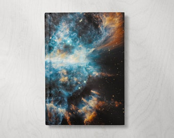 Space Notebook | Cool Notebook | Hardcover Journal Notebook | Writing Journal | Celestial Diary | Lined Pages