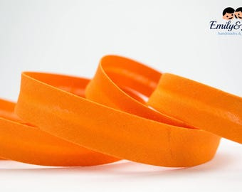 Bias tape orange, 20mm, 1,09 yards per piece