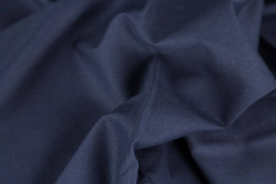 100% cotton dark blue navy plain, 25cm / 0,27 yards per piece