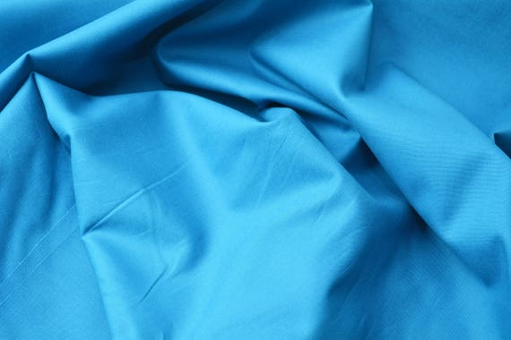 100% Cotton TURQUOISE  uni, 25cm / 0,27 yards per piece