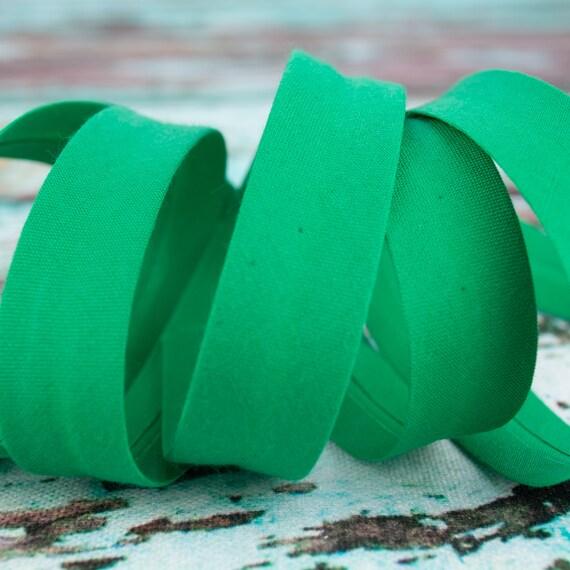 Bias binding forrest green, 18mm, 1,09 yards per piece
