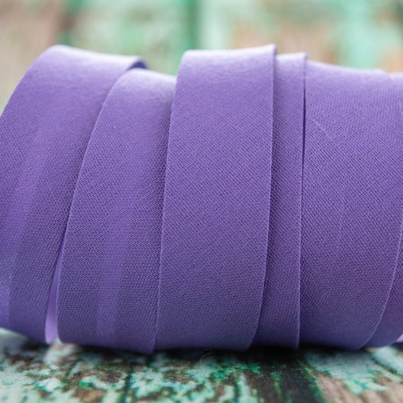 Bias binding purple violette, 18mm width, 1,09 yards = 1 meter per piece