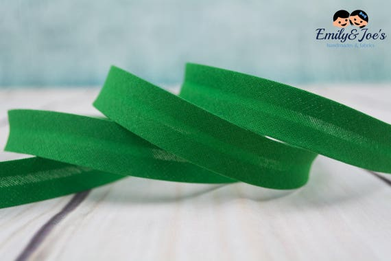 Bias binding green, 18mm width, 1,09 yards = 1 meter per piece