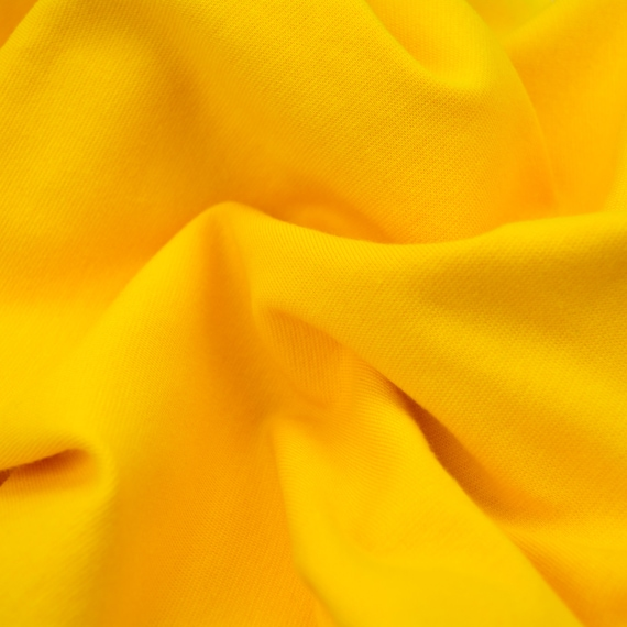 Sweat yellow, roughened side, elastic, 25cm / 0,27 yards per piece