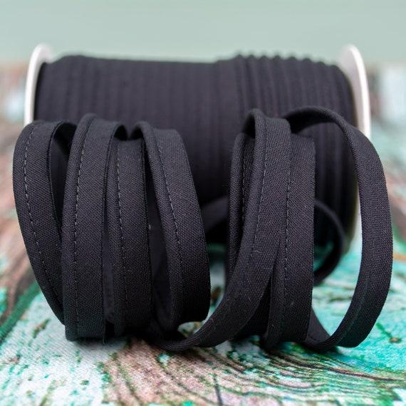Piping stripe black, 1,09 yards / 1 meter per piece