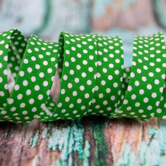 Bias binding green, 18mm width, 1,09 yards = 1 meter per piece