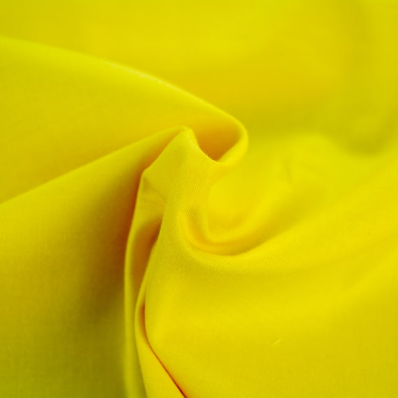 100% cotton plain lemon yellow, 25cm / 0,27 yards per piece
