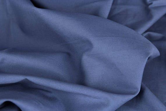 Cotton smokey blue / jeans blue plain, 25 cm / 0,27 yards per piece