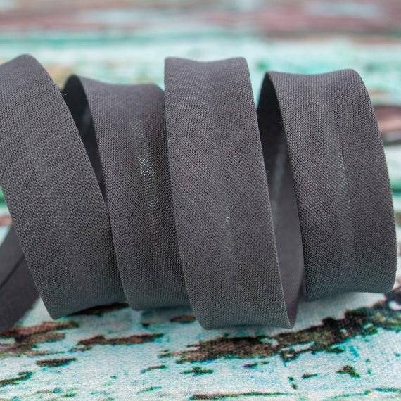 Bias binding anthracite, 18mm, 1,09 yards per piece