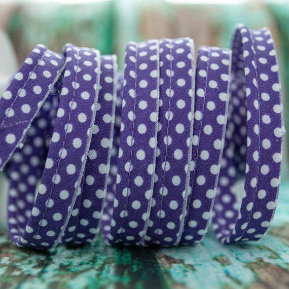 Piping stripe with dots purple, 1,09 yards per piece