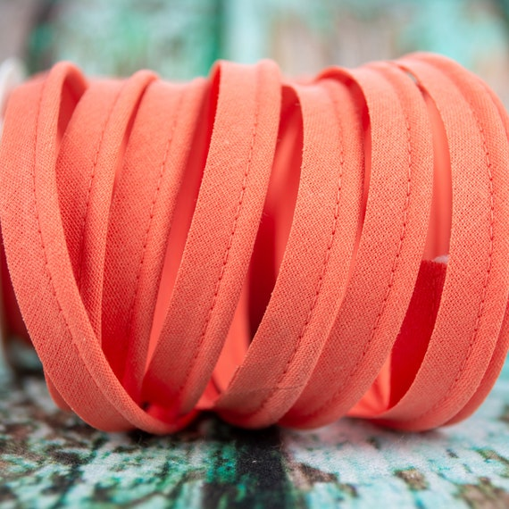 Piping stripe coral, 1,09 yards / 1m  per piece