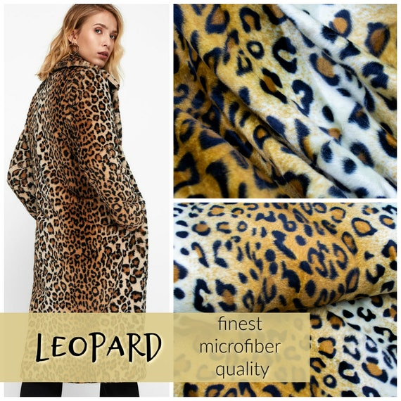 Leopard faux fur, finest microfiber quality, 0,27 yards per piece