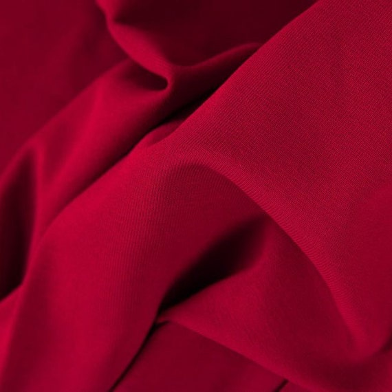 Cuff dark red, burgundy, 100 cm wide, 0,25m  per piece