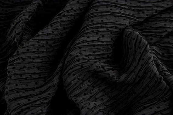 Chiffon black with little dots, 25cm / 0,27 yards per piece