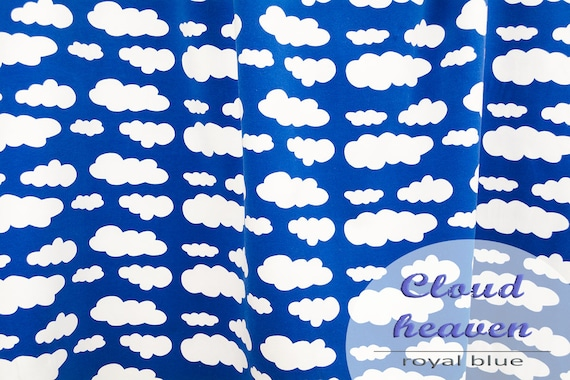 Jersey clouds royal blue, 0,27 yards per piece