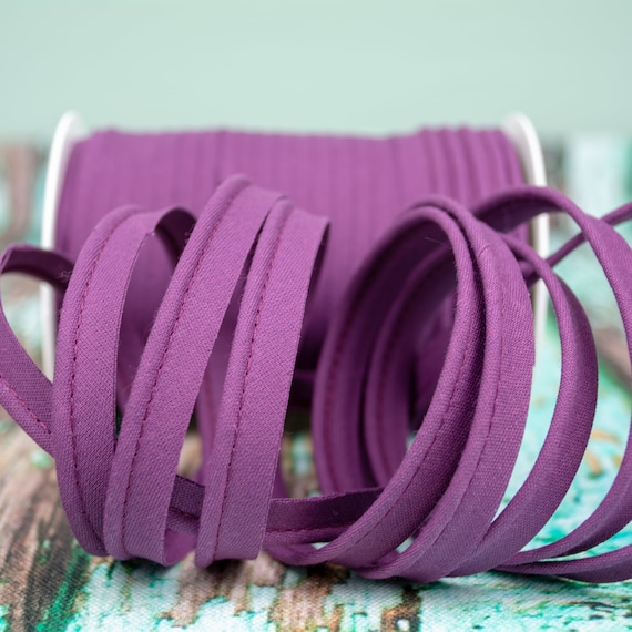 Piping stripe aubergine , 1,09 yards / 1m  per piece