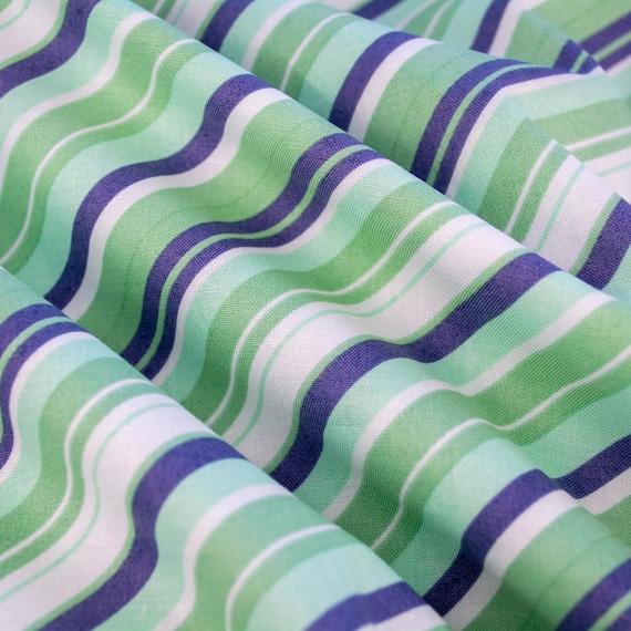 100% cotton cross stripes blue green mint white Riley Blake design, 25cm / 0,27 yards per piece