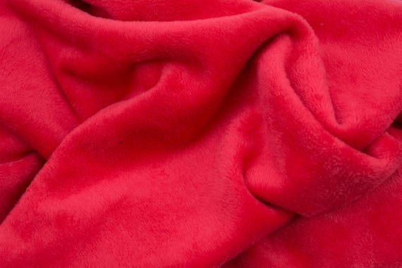 Alpenfleece red, cuddly fleece, 25cm / 0,27 yards per piece