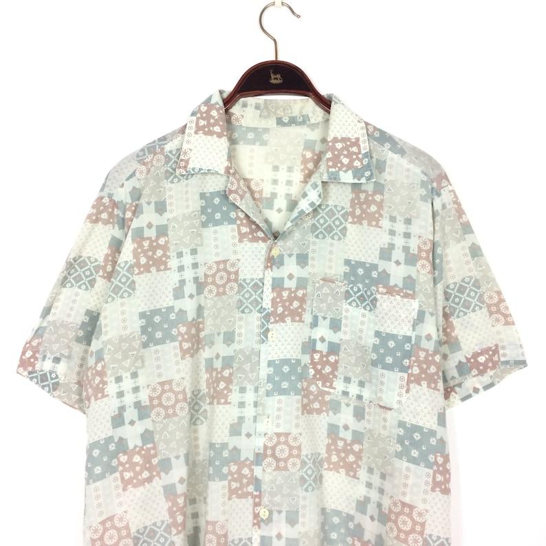 0e3f2d713 90s Men's PATCHWORK FLORAL Shirt size Small MEDIUM | Etsy