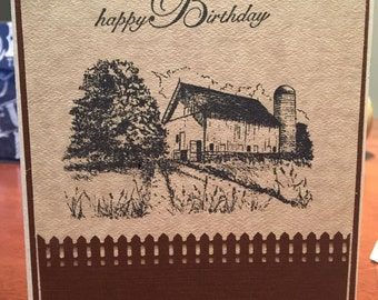 Farm Birthday Card