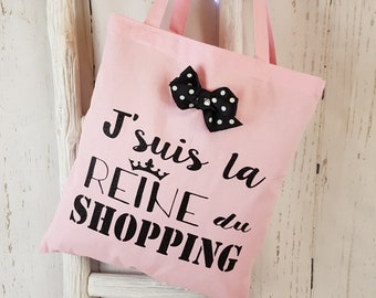 The tote bag shopping addict message