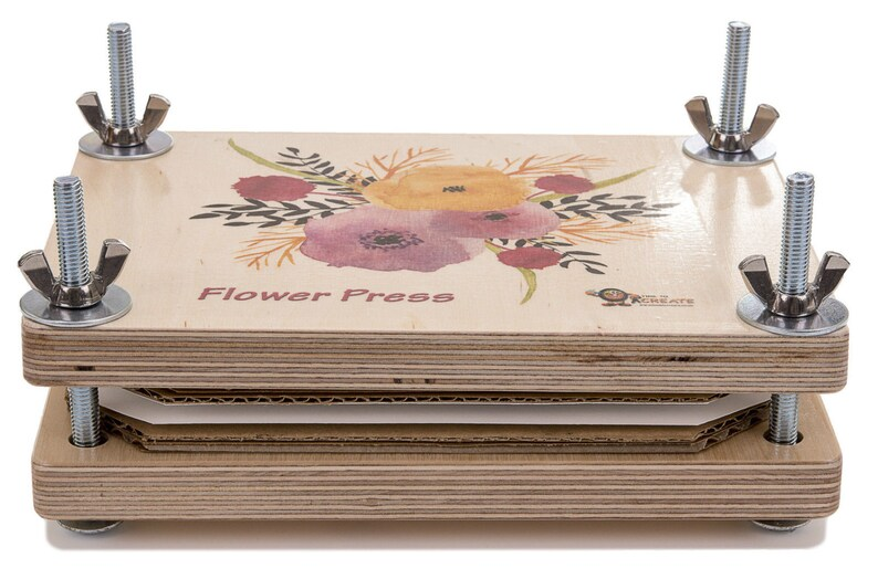 Flower Press Deluxe Wooden Kit Best Quality Will Not Bend image 0