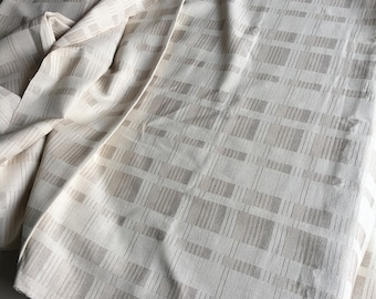 soft cotton  slight pattern woven natural cotton woven sell by the yards 52 wide Sage /& Beige The Chiangmai native cotton fabric