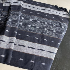 The Chomtong handwoven native cotton fabric Gray  cotton sell by the yards Hand woven cotton,from Chiangmai Thailand