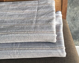 The Chiangmai native cotton fabric,woven cotton Grey,soft cotton and brown with dot green slight pattern woven,cotton woven,sell by the yard