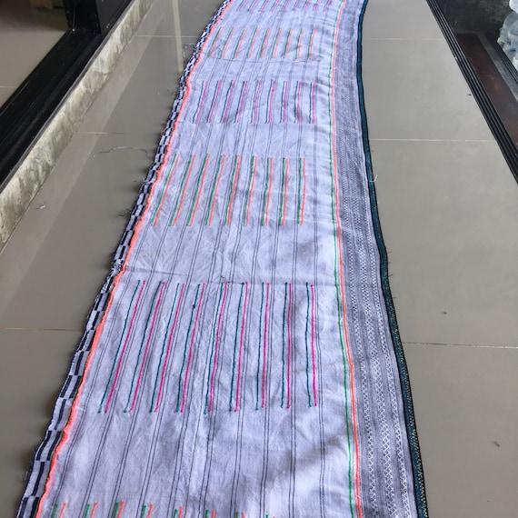 Tissu Hmong, tissu de chanvre tissé à la Hmong main Hmong la Vintage chanvre, tissus tribu hill vintage avec broderie, etc, votre bricolage #1308 b8df68