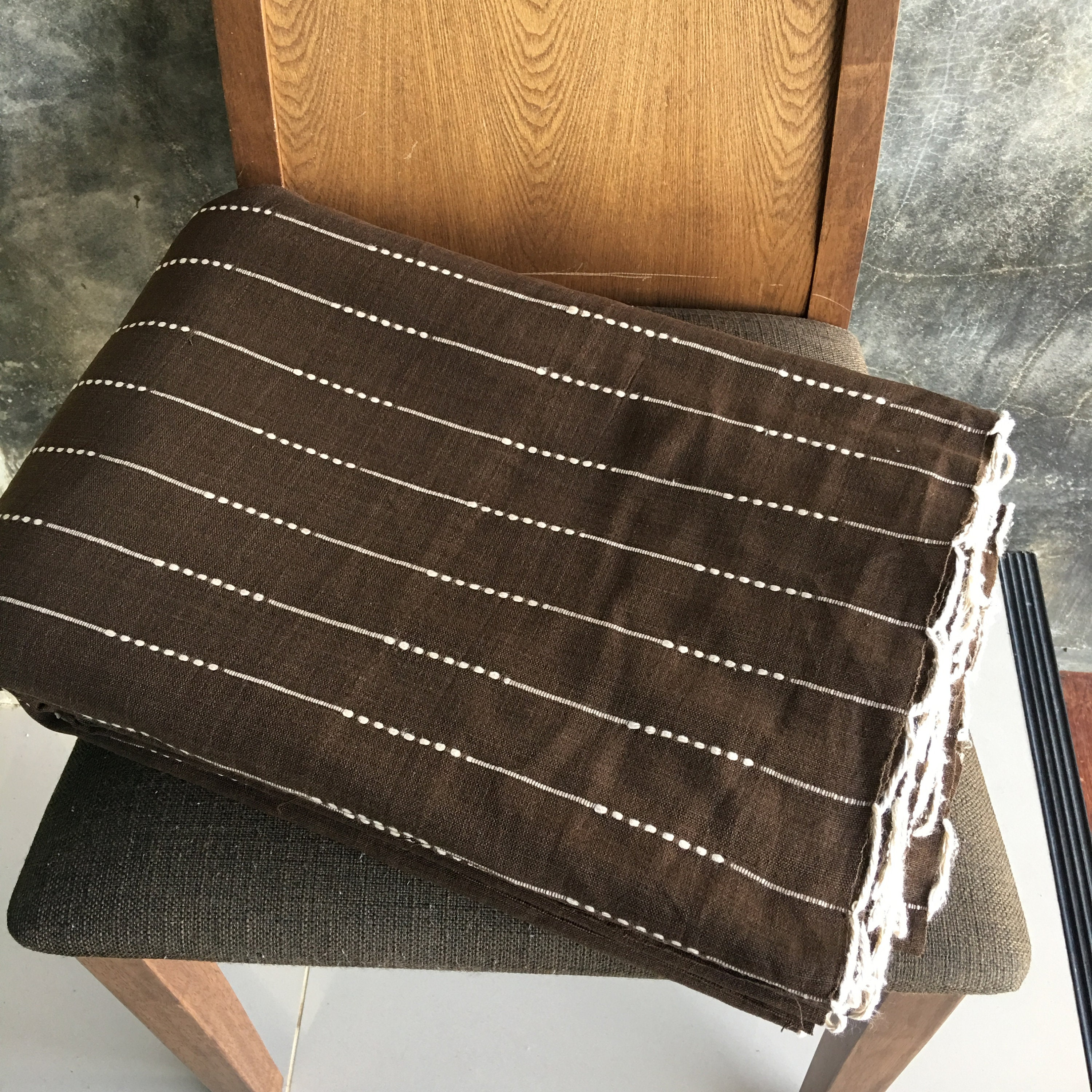 from Chiangmai Thailand Hand woven cotton The Chom THong  handwoven native cotton fabric sell by the yards soft  cotton