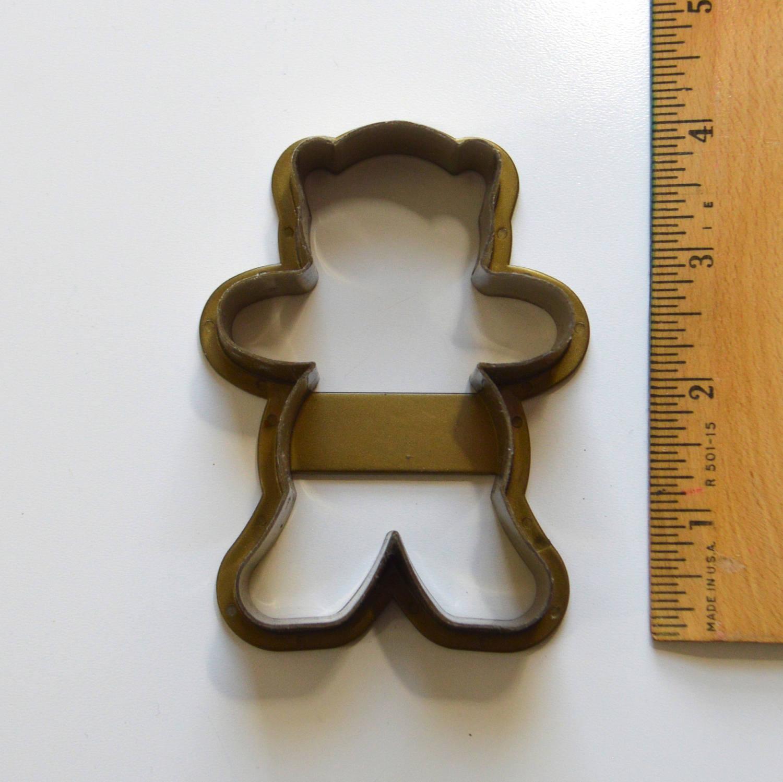 "teddy bear plastic cookie cutter 5/"""