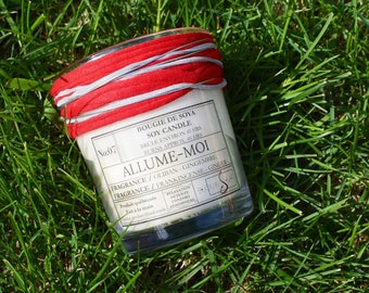 Candle handmade soy wax (soy candle).