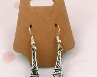 Eiffel Tower Dangle Earrings