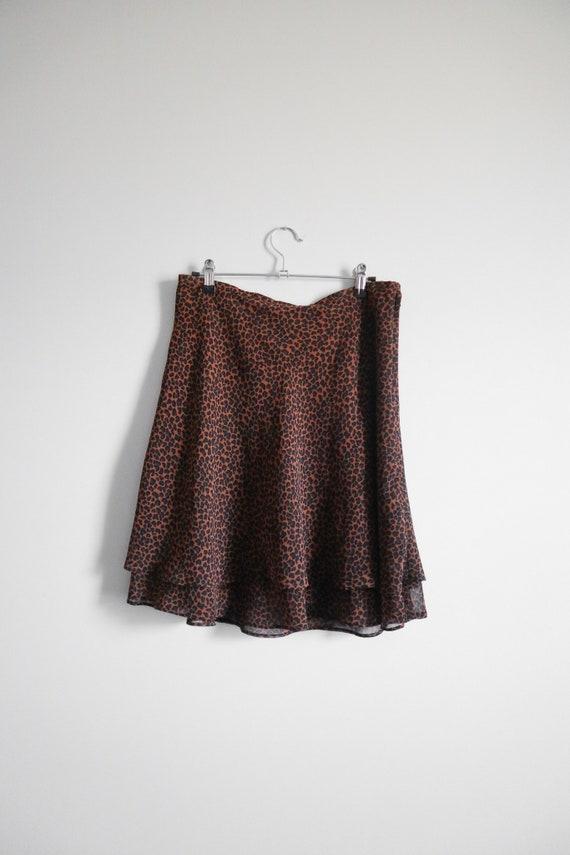 vintage 1990s express leopard print swing skirt