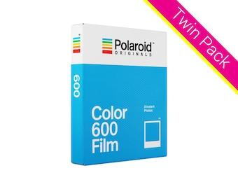 Polaroid Originals 600 Instant Camera Film - Twin Pack - Classic White Frame