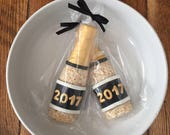 Champagne Bottle Crispie Treats (12) - Celebration, Wedding, Birthday, Favor