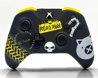 Custom Deadpool Themed Xbox One Controller with Custom Xbox