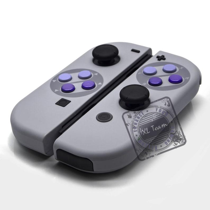 Custom SNES Super Nintendo Themed Nintendo Switch Joy-Con JoyCon Controllers