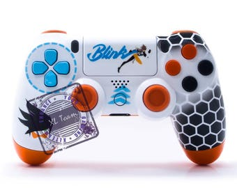 Custom PlayStation 4 PS4 DualShock 4 Controller Overwatch Tracer