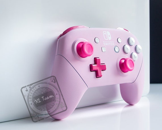 Custom Pastel Pink Nintendo Switch Pro Controller Etsy