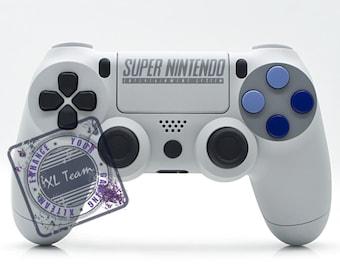 Custom SNES Super Nintendo PlayStation 4 PS4 DualShock 4 Controller
