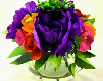Bold and Bright Purple Paper Bouquet