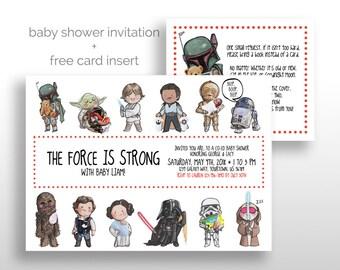 Star Wars Baby Shower Invitation Etsy