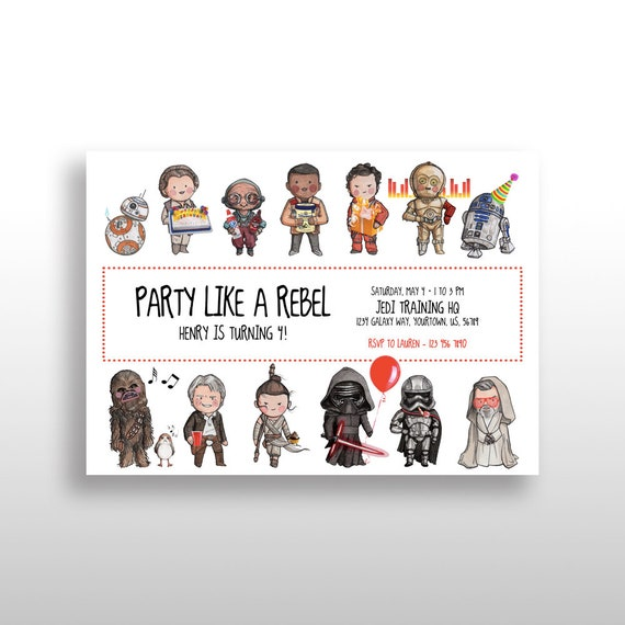 photograph regarding Printable Star Wars Images called EDITABLE PRINTABLE Star Wars The Strain Awakens, The Previous Jedi Birthday Invitation, Star Wars Birthday Get together Invite, Instantaneous electronic obtain
