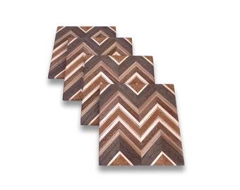 Custom Wood Coasters (mahogany, walnut, maple, butternut, sapele)