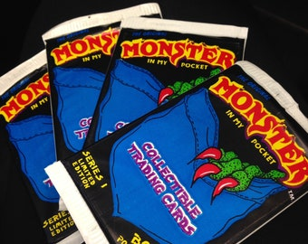 Vintage 1990s MIMP Monster In My Pocket Trading Cards!!!! Brand NEW in package!!!