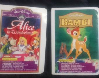 Vintage 1995 Walt Disney ALICE in Wonderland and BAMBI McDonald's Happy Meal Toys