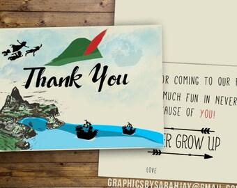 Thank You Cards | Neverland Peter Pan/Pirates