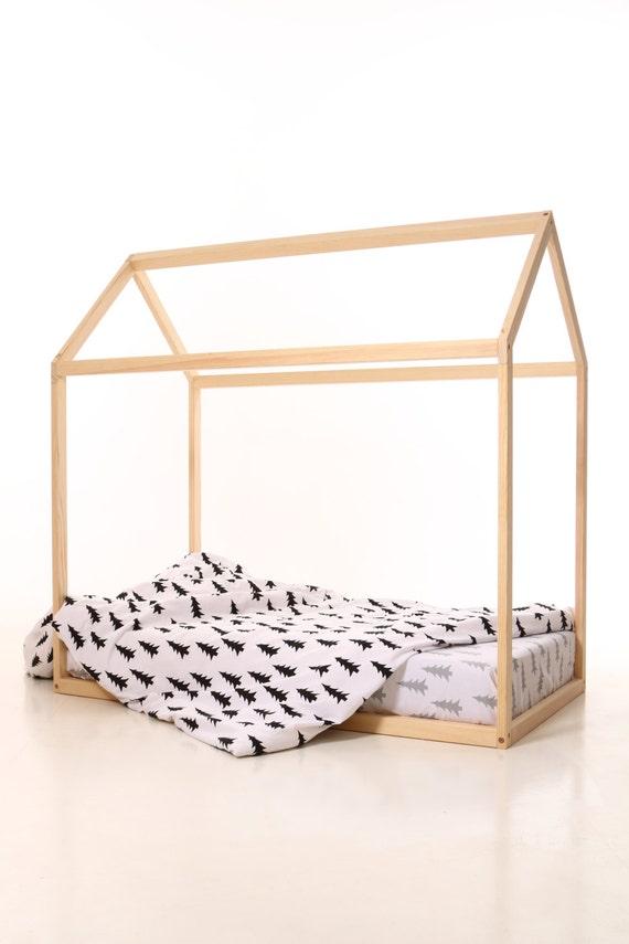 190x90cm mit Lamellen Kinder Haus Bettrahmen Kleinkind-Bett | Etsy